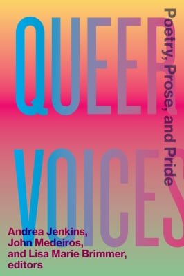 book cover of Queer Voices: Poetry, Prose, and Pride